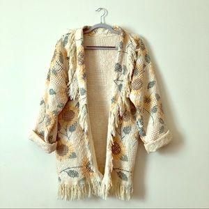 Vintage | one of a kind | sunflower kimono coverup
